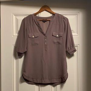 Angie maroon blouse small pocket